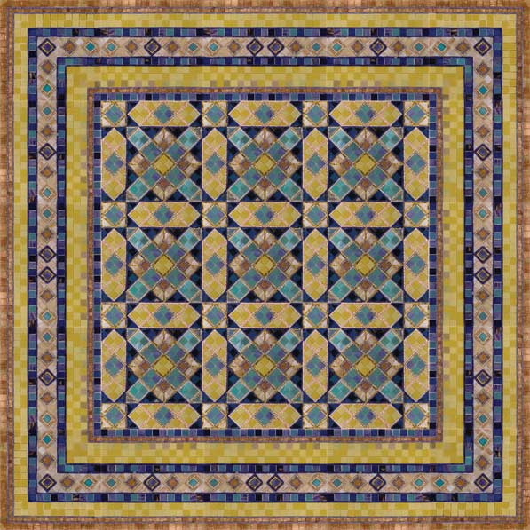 ковёр из мозаики