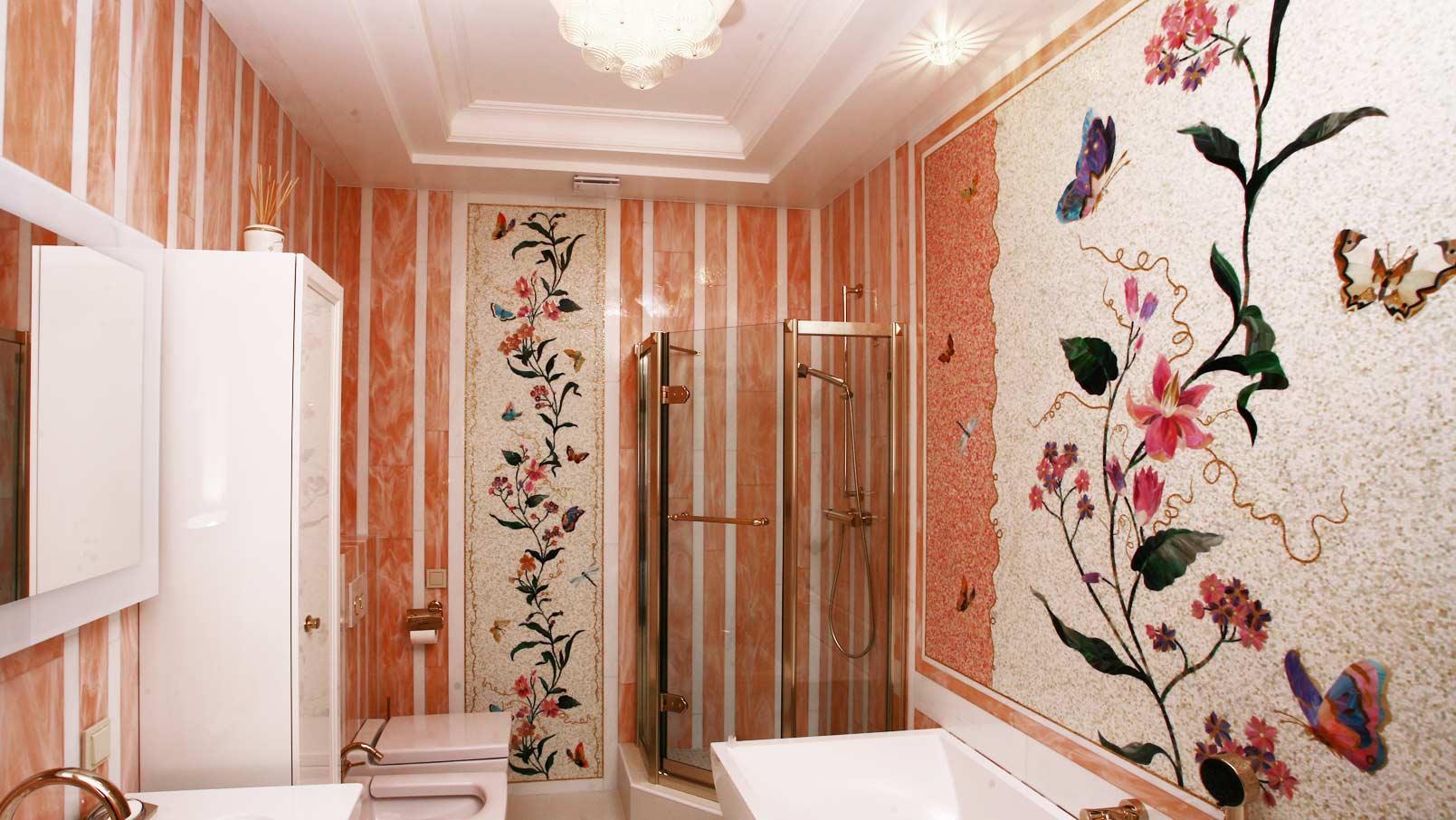 мозаика для ванной комнаты девочки