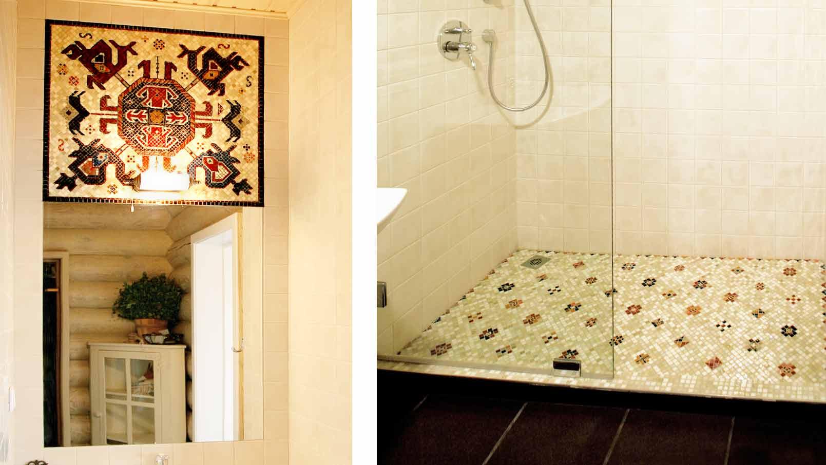 Русское в душе в ванной
